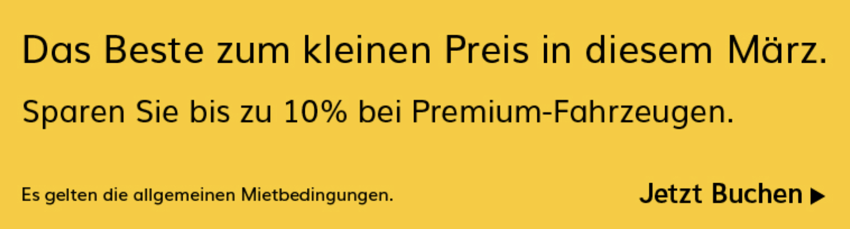 Hertz rabatt, mietwagen rabatt, Hertz aktion, mietwagen gutscheincode, Hertz - 10% Sofort-Rabatt auf Premium Fahrzeuge