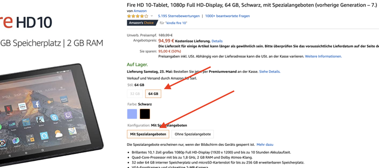 amazon Fire HD 10-Tablet