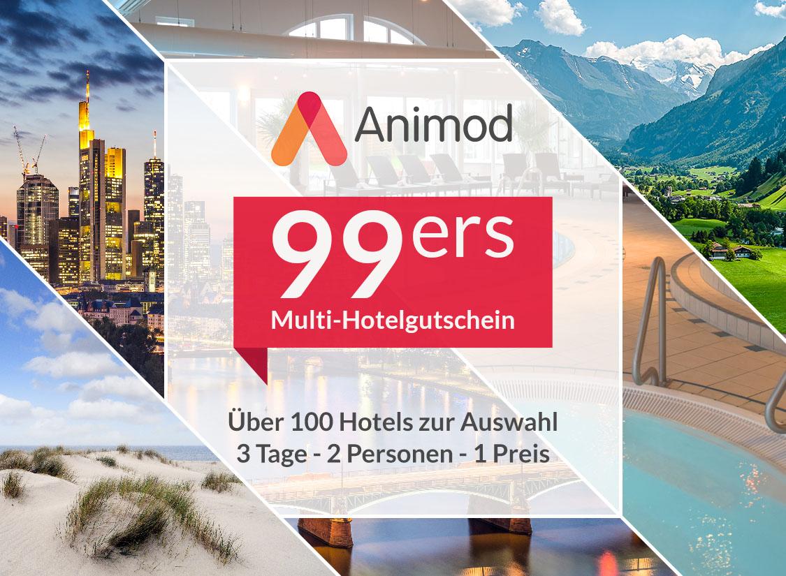 animod 99ers, animod Hotelgutschein, Animod erweiterte einlösezeit