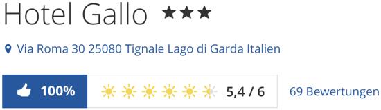 Gardasee HotelGallo Tignale, holidaycheck reisen hotels bewertungen