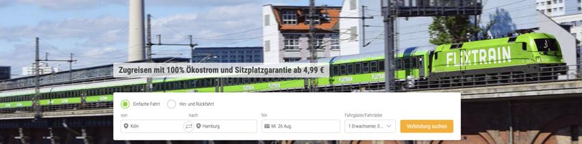FlixTrain aktion, FlixTrain gutschein, FlixTrain rabatt, Zug billig, reise Zug billig