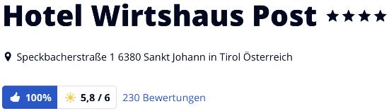 sankt Johann Hotel Wirtshaus Post, holidaycheck Bewertungen Hotels reisen