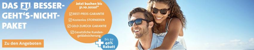 FTI: Urlaub mit Bestpreisgarantie & Geld-zurück-Garantie
