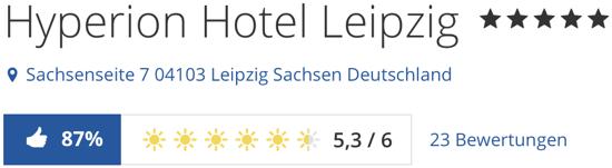 holidaycheck Bewertungen Hotels reisen, HYPERION Hotel Leipzig