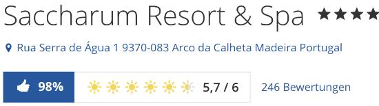 Hotel Saccharum madeira, holidaycheck Bewertungen reisen hotels