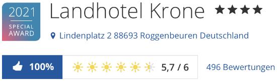 Landhotel Krone Roggenbeuren Bodensee, holidaycheck reisen Hotels Bewertungen