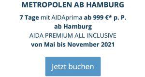 aida metropolen ab Hamburg, aida premium all inclusive, aida frühbucher plus