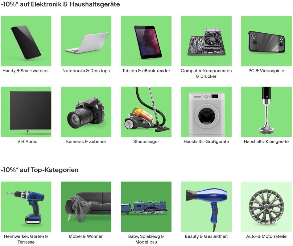 ebay aktion b-ware, ebay 10% rabatt, eBay sonderangebot
