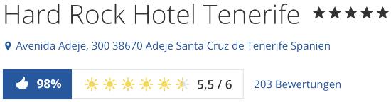 HARD ROCK HOTEL Teneriffa, holidaycheck.de reise Bewertungen urlaub hotels