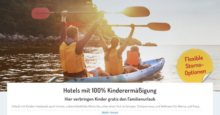 Kinder urlaub gratis, Kinder 100% rabatt, Kinder reisen kostenlos
