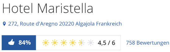 Korsika Hotel Maristella, holidaycheck.de reise Bewertungen urlaub hotels