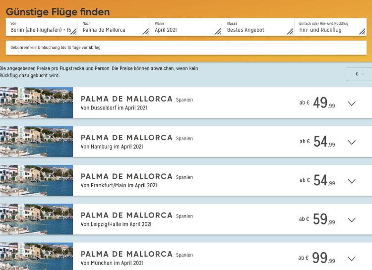 Reisewarnung Mallorca aufgehoben, Flüge Mallorca billig, last minute Mallorca