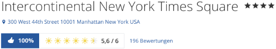 New York Hotel InterContinental Times Square, holidaycheck reisen hotels bewertungen