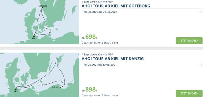 AIDA ahoi reisen, aida Norddeutschland schon ab 349 €, aida aktion, aida last minute