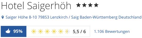 holidaycheck reisen hotels bewertungen, Hotel Saigerhöh hochschwarzwald, schwarzwald Hotel Saigerhöh