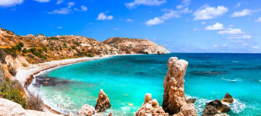 Zypern, Paphos, Felsen der Aphrodite, HolidayCheck Gutschein, Bis zu 200€ FTI Sofort-Rabatt, late Summer sale