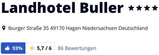 Landhotel Buller Hagen, Landhotel Buller Teutoburger Wald, Landhotel Buller Niedersachsen, holidaycheck Bewertungen Hotels reisen